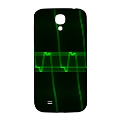 Background Signal Light Glow Green Samsung Galaxy S4 I9500/i9505  Hardshell Back Case