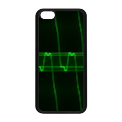 Background Signal Light Glow Green Apple Iphone 5c Seamless Case (black)