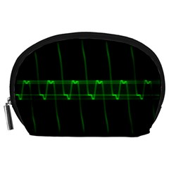Background Signal Light Glow Green Accessory Pouches (large)