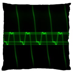 Background Signal Light Glow Green Large Flano Cushion Case (two Sides)