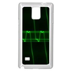 Background Signal Light Glow Green Samsung Galaxy Note 4 Case (white)