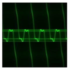 Background Signal Light Glow Green Large Satin Scarf (square)