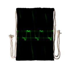 Background Signal Light Glow Green Drawstring Bag (small)