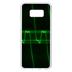 Background Signal Light Glow Green Samsung Galaxy S8 Plus White Seamless Case