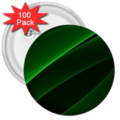Background Light Glow Green 3  Buttons (100 Pack)