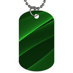 Background Light Glow Green Dog Tag (one Side)