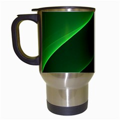 Background Light Glow Green Travel Mugs (white)