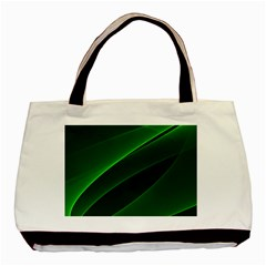 Background Light Glow Green Basic Tote Bag