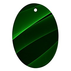 Background Light Glow Green Oval Ornament (two Sides)