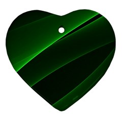 Background Light Glow Green Heart Ornament (two Sides)