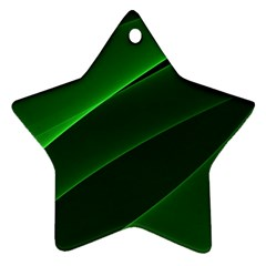 Background Light Glow Green Star Ornament (two Sides)