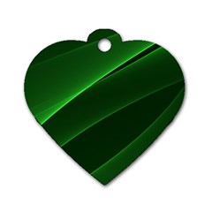 Background Light Glow Green Dog Tag Heart (one Side)