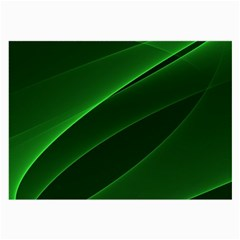 Background Light Glow Green Large Glasses Cloth (2 Side)