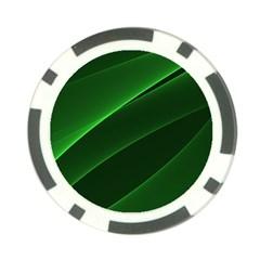 Background Light Glow Green Poker Chip Card Guard