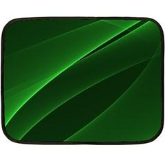 Background Light Glow Green Double Sided Fleece Blanket (mini)
