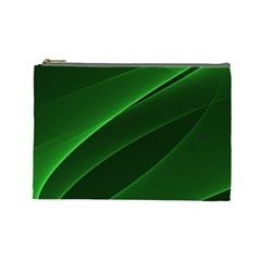 Background Light Glow Green Cosmetic Bag (large)