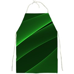 Background Light Glow Green Full Print Aprons
