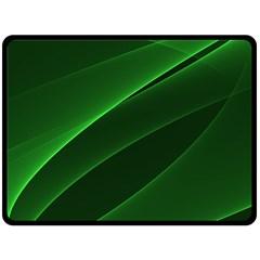 Background Light Glow Green Fleece Blanket (large)