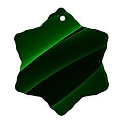 Background Light Glow Green Ornament (snowflake)