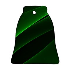 Background Light Glow Green Ornament (bell)