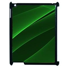 Background Light Glow Green Apple Ipad 2 Case (black)