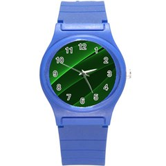Background Light Glow Green Round Plastic Sport Watch (s)