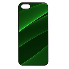 Background Light Glow Green Apple Iphone 5 Seamless Case (black)