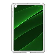 Background Light Glow Green Apple Ipad Mini Case (white)