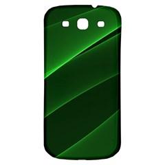 Background Light Glow Green Samsung Galaxy S3 S Iii Classic Hardshell Back Case