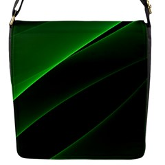 Background Light Glow Green Flap Messenger Bag (s)