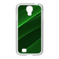Background Light Glow Green Samsung Galaxy S4 I9500/ I9505 Case (white)