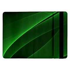 Background Light Glow Green Samsung Galaxy Tab Pro 12 2  Flip Case