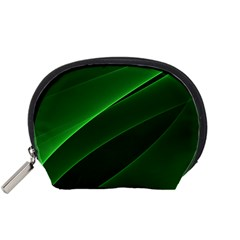 Background Light Glow Green Accessory Pouches (small)