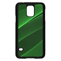 Background Light Glow Green Samsung Galaxy S5 Case (black)