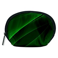 Background Light Glow Green Accessory Pouches (medium)