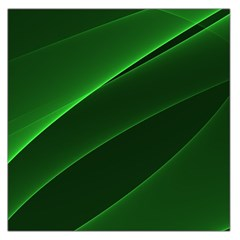 Background Light Glow Green Large Satin Scarf (square)