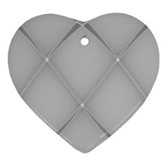 Background Light Glow White Grey Ornament (heart)
