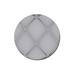 Background Light Glow White Grey Rubber Coaster (round)