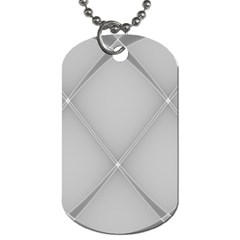 Background Light Glow White Grey Dog Tag (one Side)