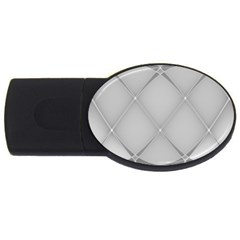 Background Light Glow White Grey Usb Flash Drive Oval (2 Gb)