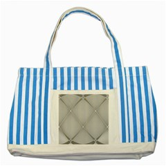 Background Light Glow White Grey Striped Blue Tote Bag by Nexatart