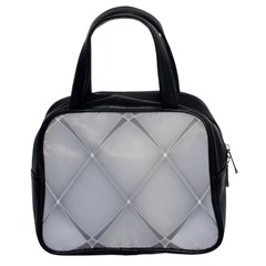 Background Light Glow White Grey Classic Handbags (2 Sides)