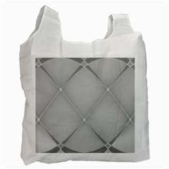 Background Light Glow White Grey Recycle Bag (one Side)