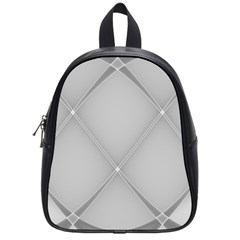 Background Light Glow White Grey School Bag (small)
