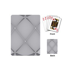 Background Light Glow White Grey Playing Cards (mini)