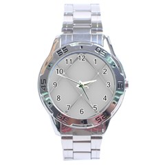 Background Light Glow White Grey Stainless Steel Analogue Watch