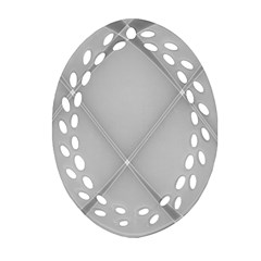 Background Light Glow White Grey Oval Filigree Ornament (two Sides)