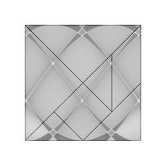 Background Light Glow White Grey Acrylic Tangram Puzzle (4  X 4 )
