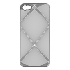 Background Light Glow White Grey Apple Iphone 5 Case (silver)