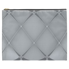 Background Light Glow White Grey Cosmetic Bag (xxxl)